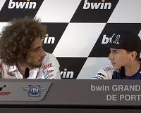 Moto GP - Portugal D.2: Après Rossi vs Stoner l'incident entre Lorenzo et Simoncelli !