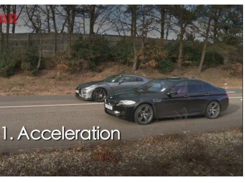 [vidéo] BMW M5 vs Nissan GT-R 2012 : la raclée