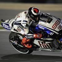 Moto GP - Qatar D.1: Une main blessée, une chute, mais second quand même c'est Lorenzo !