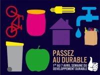 La Semaine du Développement durable 2009 aura lieu du 1er au 7 avril