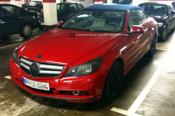 Spyshot : Mercedes Classe E Cabriolet, cette fois elle est rouge