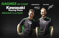 Jeu concours Kawasaki : des tee-shirts dédicacés par Sykes et Réa