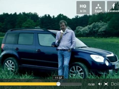 Top Gear : Jeremy Clarkson essaie à sa façon la Skoda Yéti