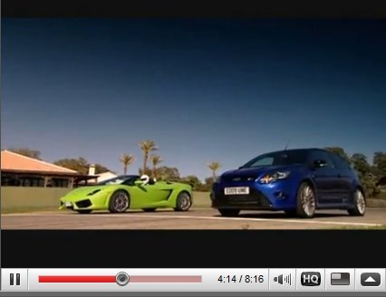 [vidéo] Lamborghini Gallardo vs Ford Focus RS, le comparatif impossible ?