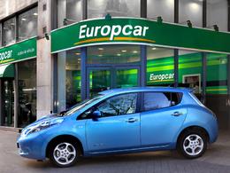 Europcar propose des Nissan Leaf à la location courte durée