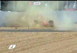 Vidéo F1 Grande Bretagne : le crash de Massa