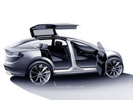 """Tesla Model X : 7 places, 400 km d'autonomie et des portes """"faucon"""" à l'arrière !"""