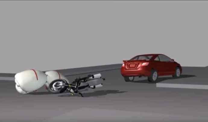 Concept - Vidéo: l'idée d'un airbag niché dans la selle