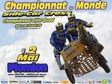 Championnat du monde de side-car cross à Plomion et quad Elite, les 1er et 2 mai