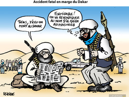 Le dessin du jour - Revendication imminente d'un accident mortel au Dakar