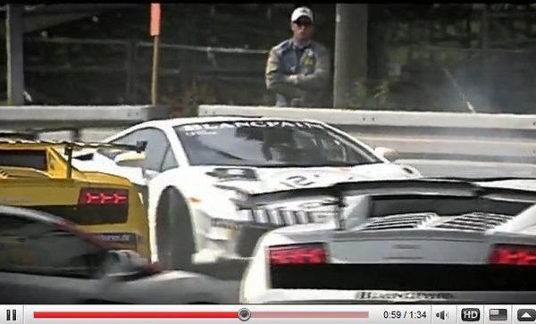 [vidéo] Corrida au Lamborghini Blancpain Super Trofeo