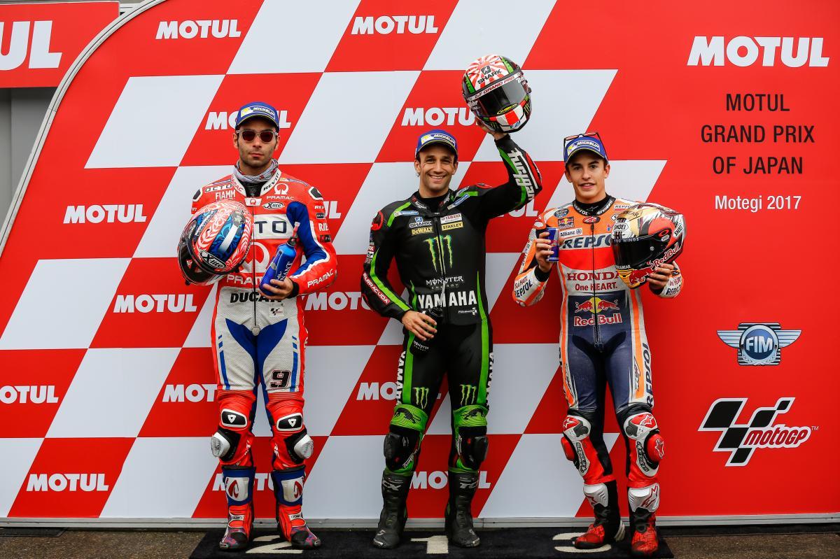 Moto. GP du Japon : Le Français Johann Zarco s'élancera en pole
