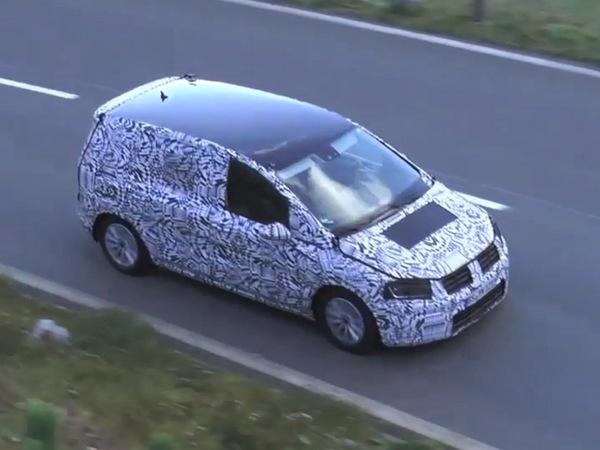 Surpris en vidéo : le futur VW Touran déjà là