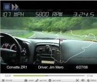 "Vidéo Ring Folies : les 7'26""4 de la  Corvette ZR-1"