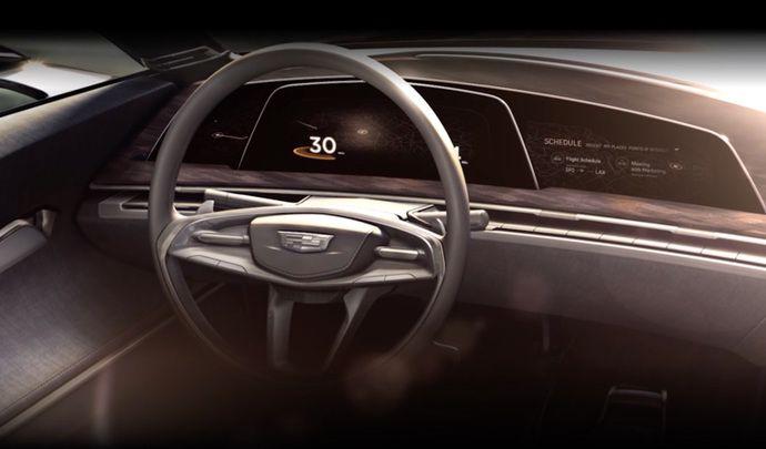 Cadillac : un cockpit à affichage OLED pour le concept à venir