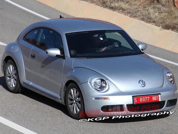 La future VW New Beetle sans camouflage