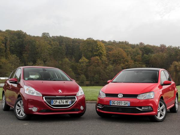Comparatif vidéo - Volkswagen Polo restylée vs Peugeot 208 : marquage à la culotte