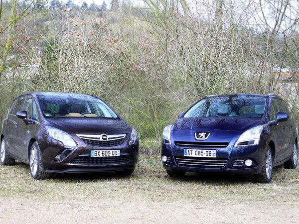 Peugeot 5008 vs Opel Zafira Tourer : question de standing ?
