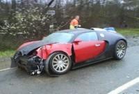 Bugatti Veyron : le premier crash !