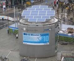 Segways et deux-roues électriques ont leur station de recharge solaire à Francfort