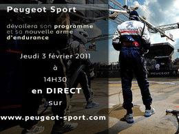 La présentation du programme Peugeot Sport en live sur internet