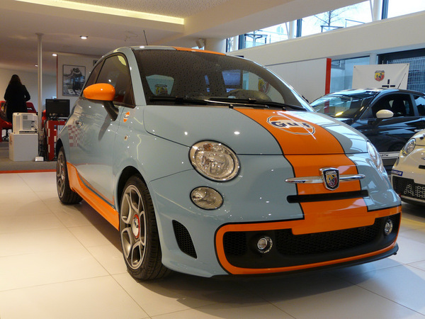 Abarth 500 Esseesse Gulf Edition : en vrai