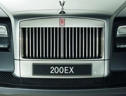 Future Rolls Royce 200 EX : le teasing, c'est la grille