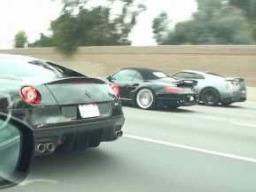 Nissan GT-R préparée VS Ferrari 599 GTO VS Porsche 997 Turbo ...Sumo nippon encore vainqueur ?