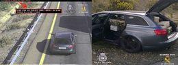Le transporteur : une Audi RS6 Avant arrêtée en Espagne à 213 km/h avec 870 kilos de haschisch dans le coffre