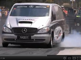 V8 10,4l Chevy et NOS : le Mercedes Vito le plus rapide du monde