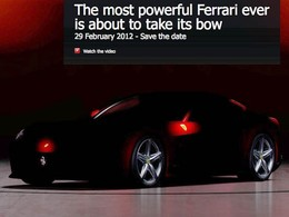 Salon de Genève 2012 - Ferrari tease sa nouvelle 620 GT en vidéo!