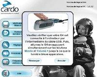 Intercom Cardo G4: mise à jour 3.0 disponible gratuitement.