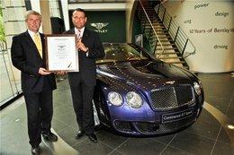 Les Bentley Continental recyclables à 85 %