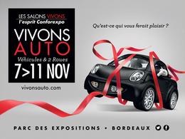 """Salon """"Vivons Auto"""" à Bordeaux du 7 au 11 novembre 2014"""