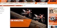 KTM: coup de jeune sur le site de la marque.