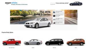 Amazon ouvre une section automobile