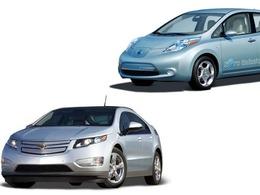 Duel électrique : 3 fois plus de Chevrolet Volt vendues que de Nissan Leaf