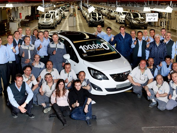 Le 100 000ème nouveau Meriva sort de l'usine Opel