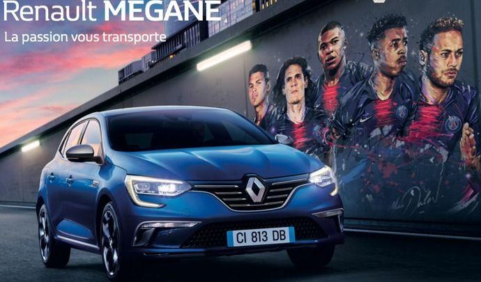 Renault Mégane: une nouvelle pub avec le PSG