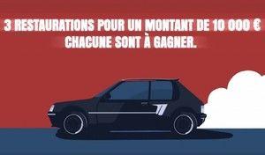 Peugeot : une restauration de 205 à hauteur de 10000€ à gagner