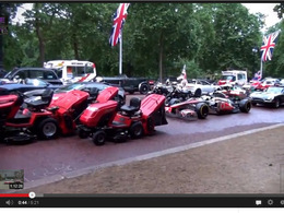 L'équipe de Top Gear surprise en tournage spécial Grande-Bretagne. Gigantesque!