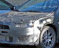 La future Mitsubishi Lancer Evo X en test et en video