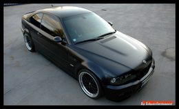 BMW M3 DM Performance full black matt, la bombe furtive