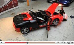 Une Ferrari F430 Spider noir mat ? oubliez le carrossier, prenez un tapissier