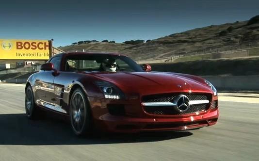 [Vidéo] La Mercedes SLS AMG à l'assaut de Laguna Seca
