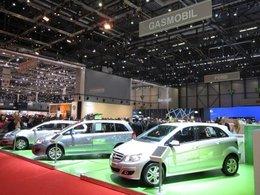 Stand GASMOBIL : ça gaz naturel pour Mercedes, Opel, Volvo, Peugeot et Fiat