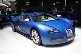 Bugatti Veyron Bleu Centenaire, célébration colorée