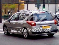La future Peugeot 207 SW se balade dans Paris ! [MAJ]