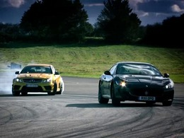 Top Gear : Mercedes C63 AMG Coupé Black Series vs Maserati GranTurismo MC Stradale, joggings de luxe