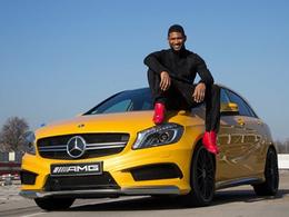 Vidéo : Usher prend à son tour le volant de la Mercedes A45 AMG